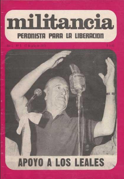 Tapa de la revista de Ortega Peña, Militancia