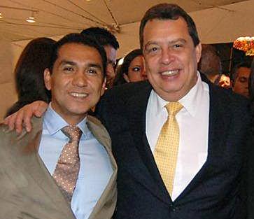 Gobernantes locales del PRD. Alcalde de Iguala, Jose Luis Abarca, profugo, y gobernador del estado de Guerrero, Angel Aguirre Rivero